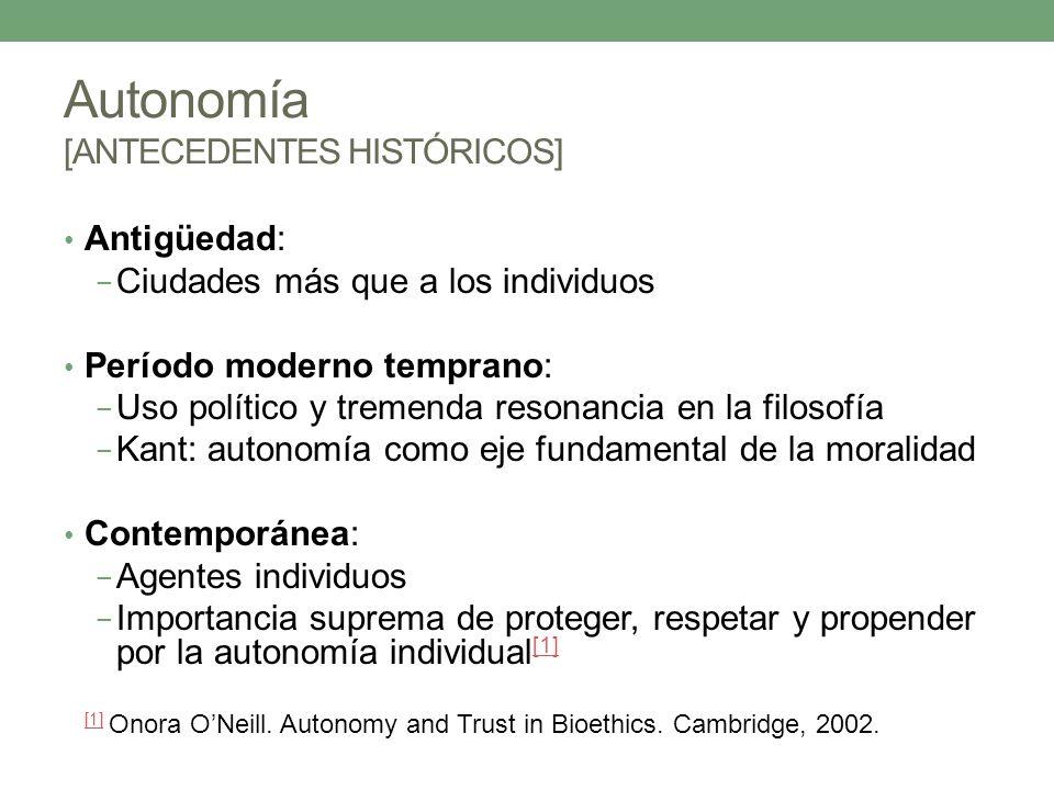 Autonomía [ANTECEDENTES HISTÓRICOS]